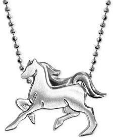 Little Horse Zodiac Pendant Necklace in Sterling Silver