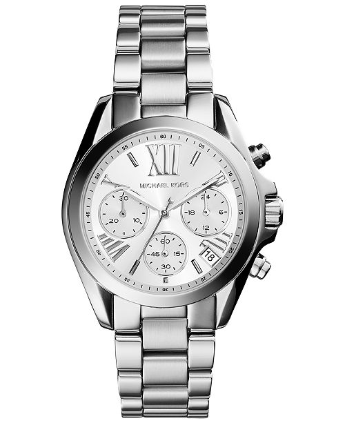 Women S Chronograph Mini Bradshaw Stainless Steel Bracelet Watch 36mm Mk6174