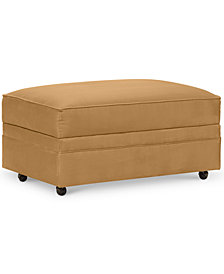 Kaleigh Fabric Storage Ottoman - Custom Colors