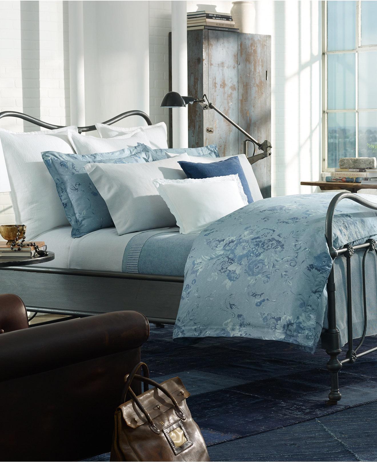Ralph lauren polo bedding for girls - Ralph Lauren Indigo Montauk Collection Bedding Collections Bed Bath Macy S