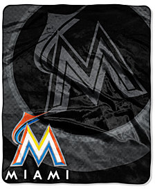 Northwest Company Miami Marlins Plush Drop Down Throw Blanket