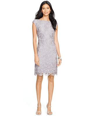 Lauren Ralph Lauren Lace Sheath Dress - Dresses - Women - Macy's