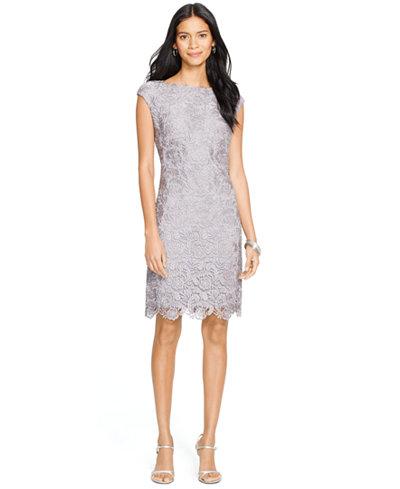 Lauren Ralph Lauren Lace Sheath Dress - Dresses - Women - Macy\'s