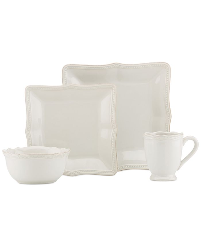 Lenox - French Perle Bead White Square 4-Pc. Place Setting