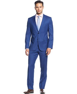 BOSS HUGO BOSS Cobalt Solid Suit - Suits & Suit Separates - Men