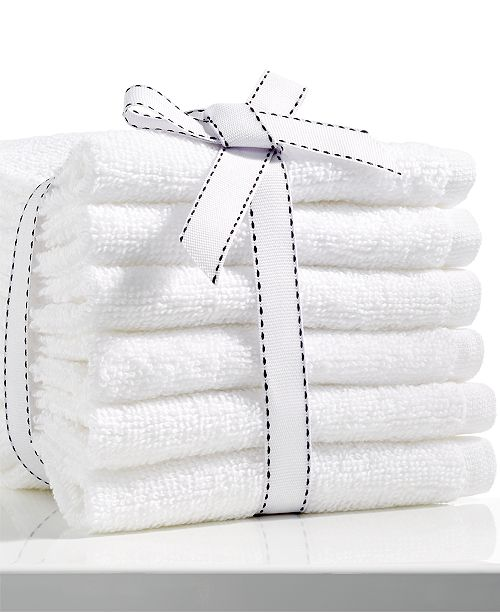 CLOSEOUT! Baltic White 6-Pc Washcloth Pack, Created for Macy's