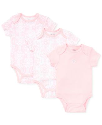 Baby Girls Damask Scroll Bodysuits 3-Pack