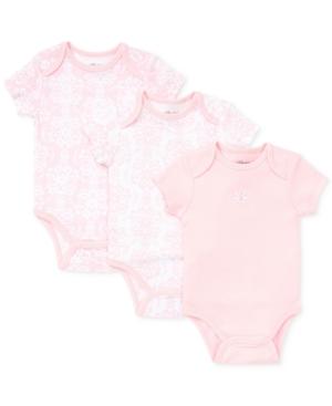 Little Me Baby Girls Damask Scroll Bodysuits 3Pack