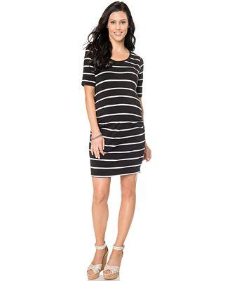 BumpStart Maternity Striped Short-Sleeve Dress - Maternity - Women ...