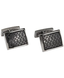 Ryan Seacrest Distinction Black Plaid Cufflinks