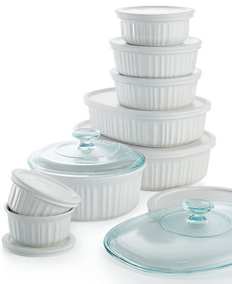 Corningware French White 18 Piece Bakeware Set Bakeware