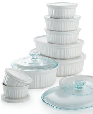 corningware french white 18 piece bakeware set - Bakeware Sets
