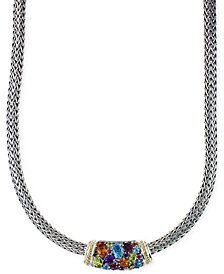 "EFFY Multistone 18"" Necklace in Sterling Silver and 18k Gold (4-2/5 ct. t.w.)"