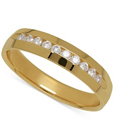 Men's Diamond Band in 14k Yellow Gold (1/4 ct. t.w.)
