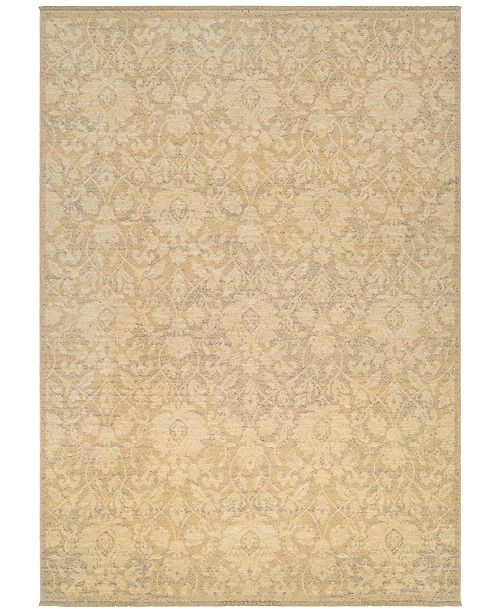 "Couristan Grand Manor Lorelei Tan-Ivory-Mauve 4'7"" x 6'2"" Area Rug"