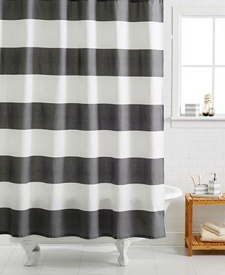 kassatex hampton striped shower curtain - shower curtains - bed