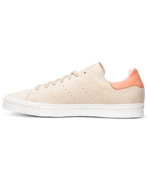 nouveau concept 601a6 18650 adidas Men's Stan Smith Vulc Nubuck Casual Sneakers from ...