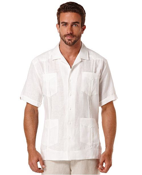 cbf619fa95 Cubavera Short-Sleeve 4-Pocket 100% Linen Guayabera Shirt   Reviews ...