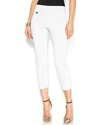 Alfani Tummy-Control Pull-On Capri Pants, Only at Macy's - Women ...
