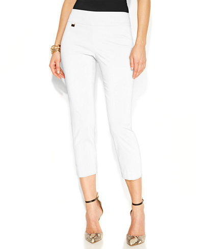 Alfani Tummy-Control Pull-On Capri Pants, Only at Macy's - Women ...
