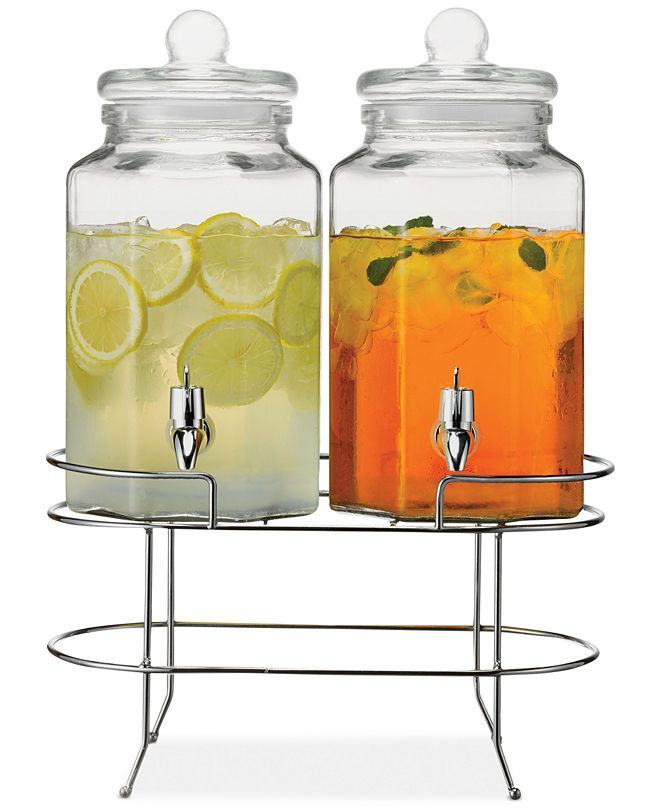 The Cellar Double Beverage Dispenser with Stand, Created for Macy's