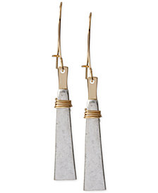 Robert Lee Morris Soho Two-Tone Geometric Linear Earrings
