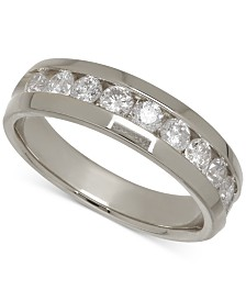 Men's Diamond Band in 14k White Gold (1 ct. t.w.)