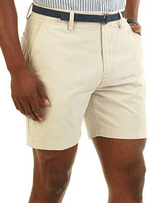Nautica 6 Inch Twill Flat-Front Shorts - Shorts - Men - Macy's