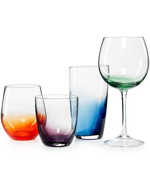The Cellar CLOSEOUT! Colored Glassware Collection