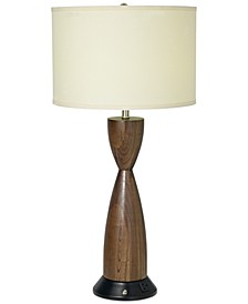 CLOSEOUT! Pacific Coast Brushed Nickel & Chocolate Brown Table Lamp