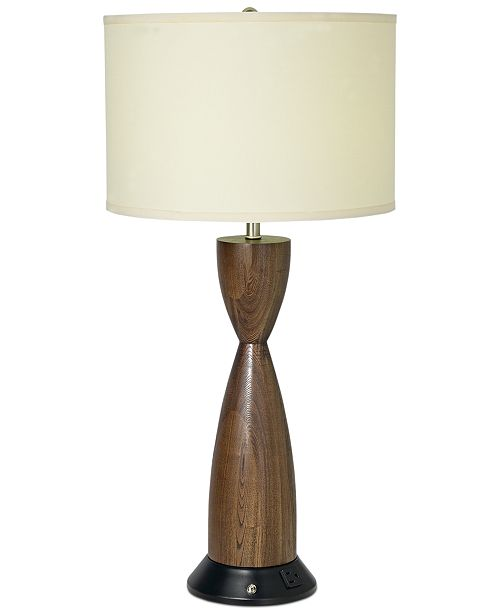 Pacific Coast CLOSEOUT! Brushed Nickel & Chocolate Brown Table Lamp