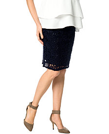 A Pea In The Pod Maternity Lace Pencil Skirt