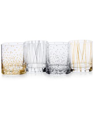 Miksa Cheers Party Double Old Fashioned Glasses, Set of 4