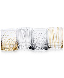Cheers Party Double Old Fashioned Glasses, Set of 4
