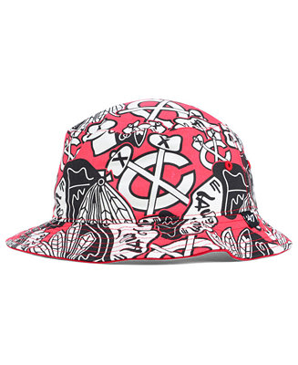 39 47 Brand Chicago Blackhawks Bucket Hat Sports Fan Shop By Lids Men Macy 39 S