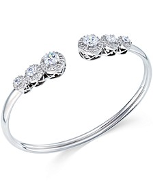 Swarovski Zirconia Bangle Bracelet in Sterling Silver