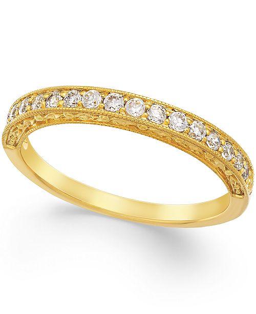 Macy's Diamond Milgrain Band in 14k Gold (1/4 ct. t.w.)