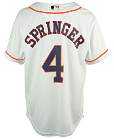 MajesticGeorge Springer Houston Astros Replica Jersey, Big Boys (8-20)