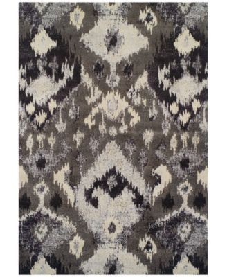 "Neo Grey Inca Pewter  3'3"" x 5'3"" Area Rug"