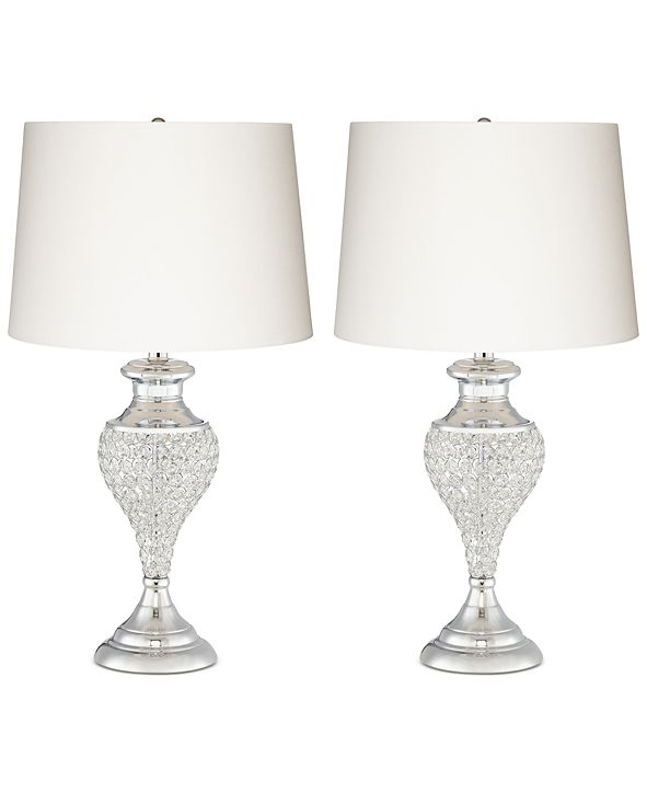 Kathy Ireland Pacific Coast Glitz and Glam Two Pack Table Lamps