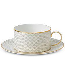 Wedgwood Arris Teacup & Saucer Set