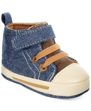 First Impressions Baby Boys HighTop Denim Sneakers Created for Macys