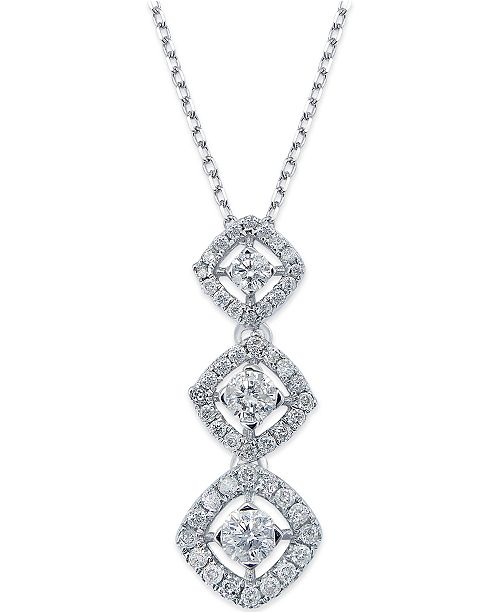 center graduated stn youtube watch ct diamond necklace tennis spectacular carats