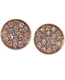 EFFY® Diamond Round Stud Earrings (3/8 ct. t.w.) in 14K Rose Gold