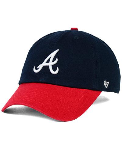 '47 Brand Atlanta Braves OFR Clean Up Cap