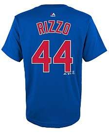 Majestic Anthony Rizzo Chicago Cubs Player T-Shirt, Big Boys (8-20)