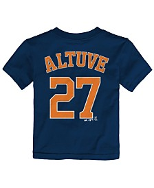 Majestic Toddlers' Jose Altuve Houston Astros Player T-Shirt