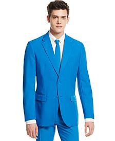 Men's Blue Steel Solid Suit