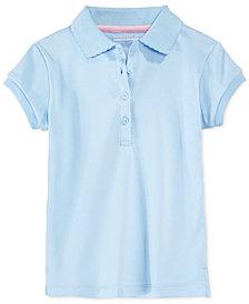 Nautica School Uniform Picot-Trim Polo, Little Girls
