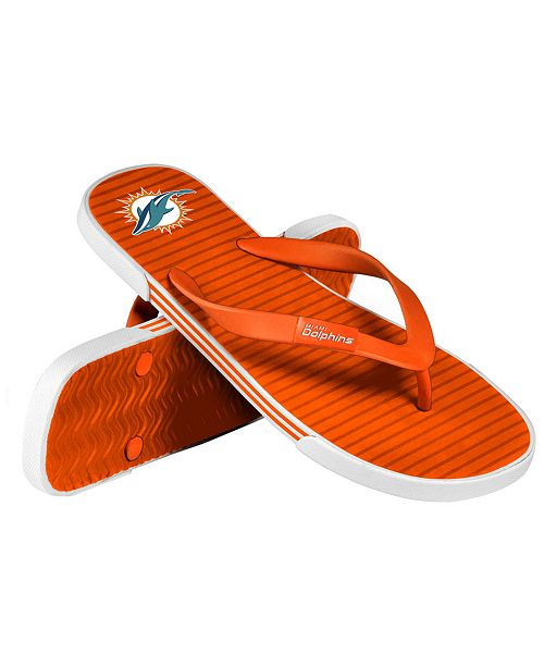 Forever Collectibles Miami Dolphins Thong Sandals